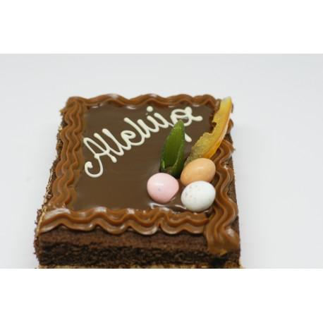 Mazurek czekoladowo-kajmakowy
