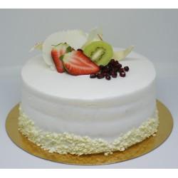 Tort Okrągły z Owocami